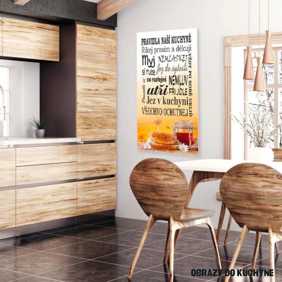 Obraz na zeď - Pravidla kuchyně, med