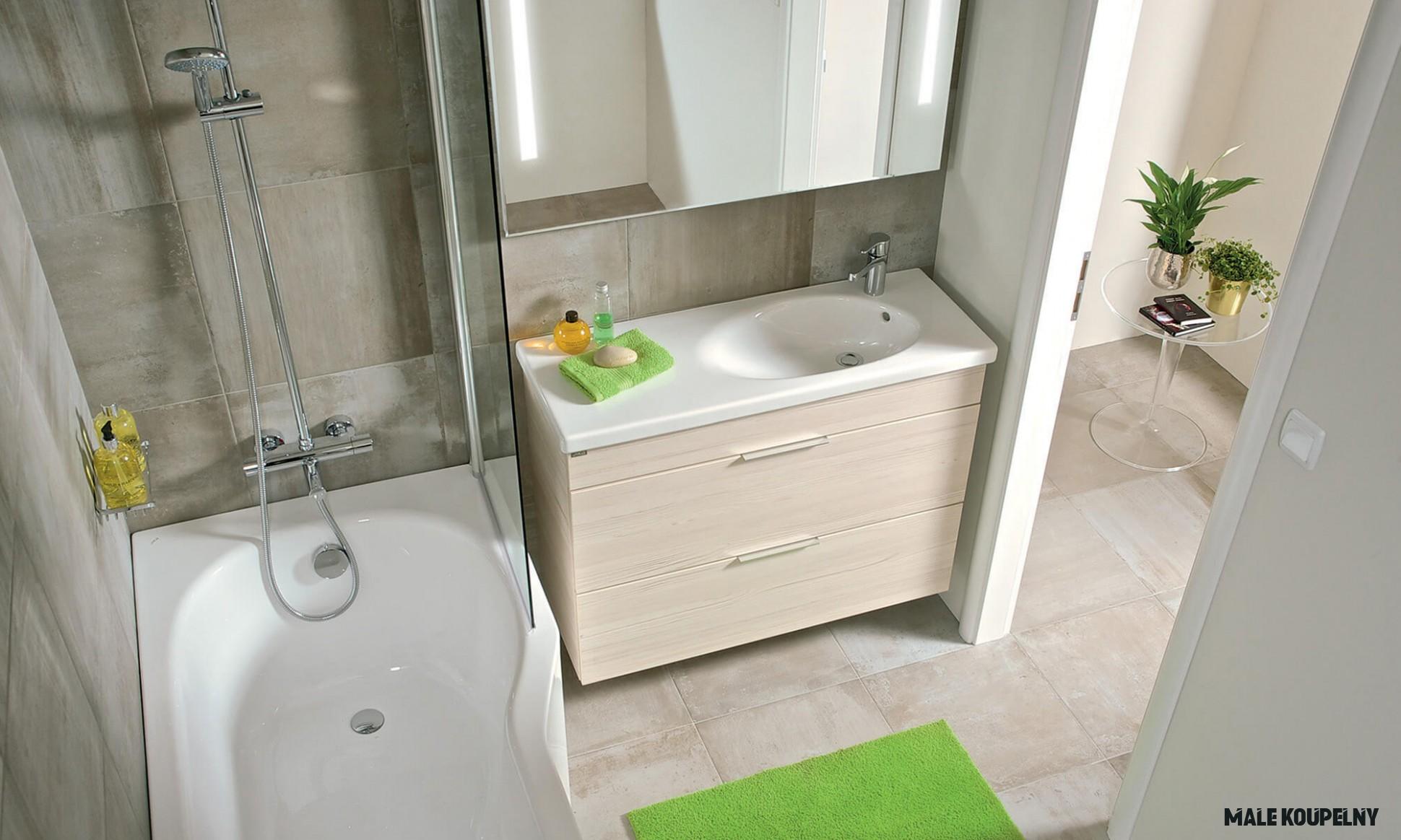 Malá koupelna. Jak zařídit mini prostor na maximum? - Inspirace od