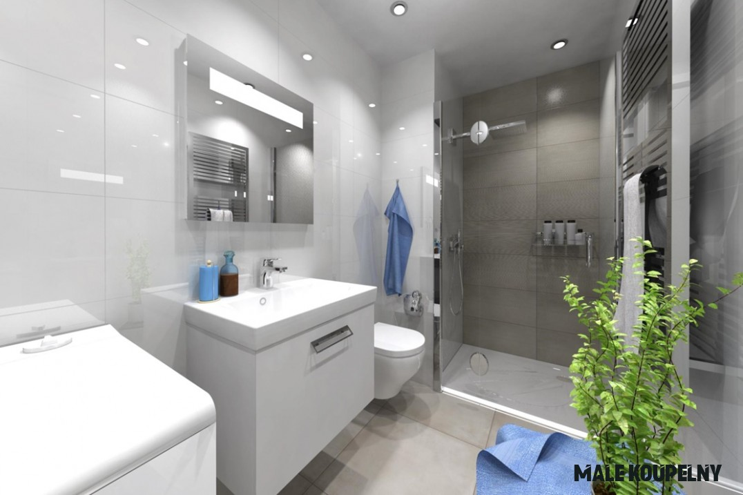 Řešení malé koupelny - 20 žhavých tipů pro vás  Kaštanová