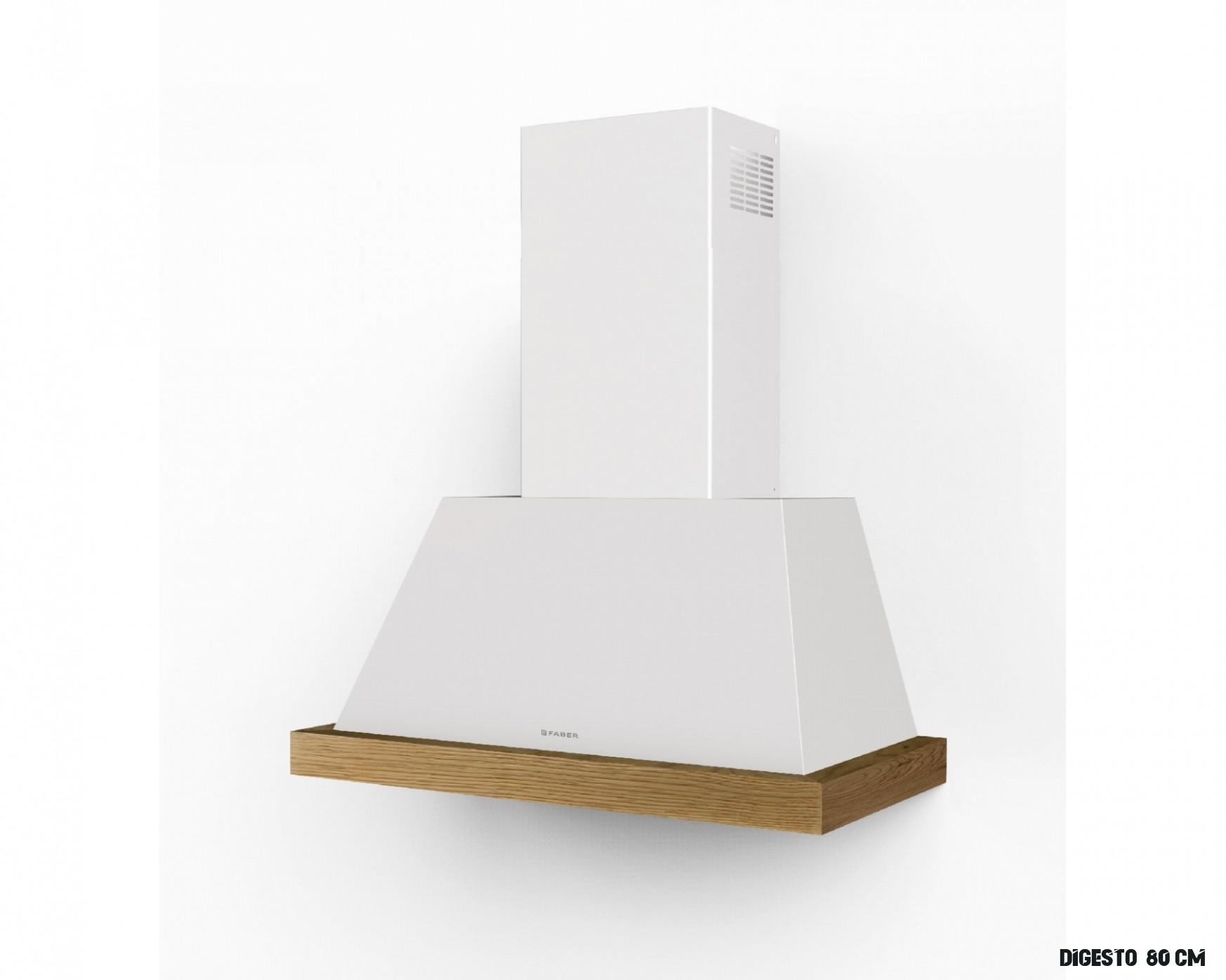 Rustikální komínová digestoř THEA WH MATT bílá, 6 cm