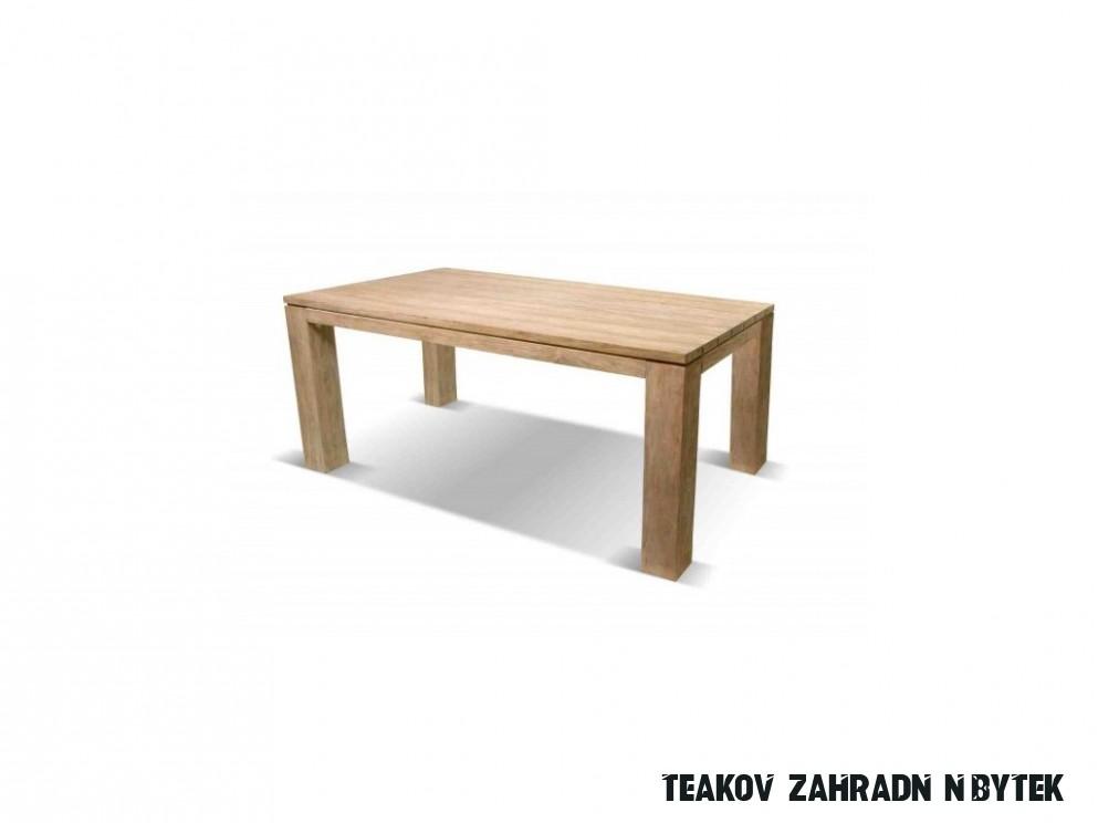 Sculpture teakový zahradní stůl Hartman o rozměru 16x16cm