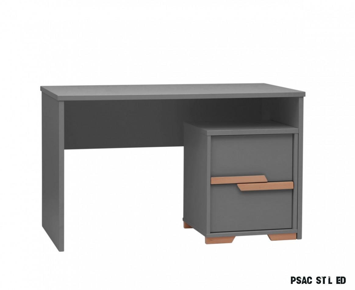 Psací stůl Pinio Snap - tmavě šedý