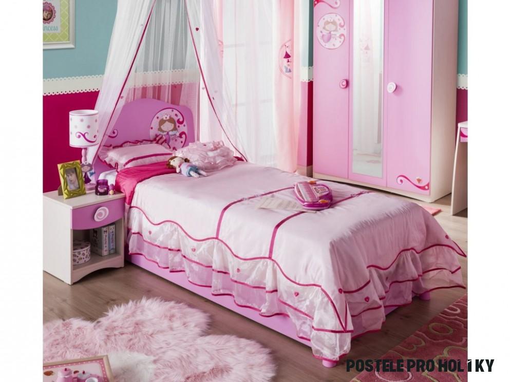 Dětská postel 12x12 cm SL Princess