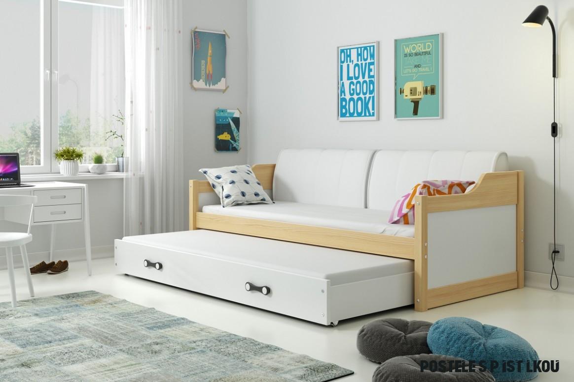 Dětská postel s přistýlkou David - Borovice