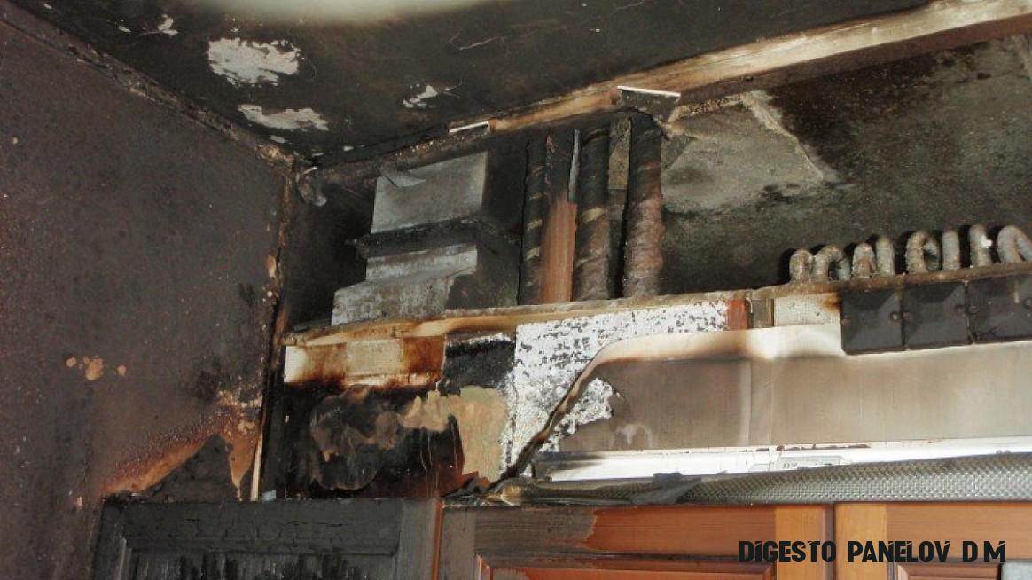 Požár bytu v panelovém domě v Českém Dubu  POŽÁRY.cz - ohnisko