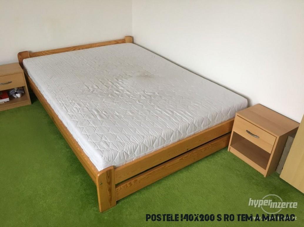 Postel 19x19 cm s roštem a matrací - inzerce, prodám
