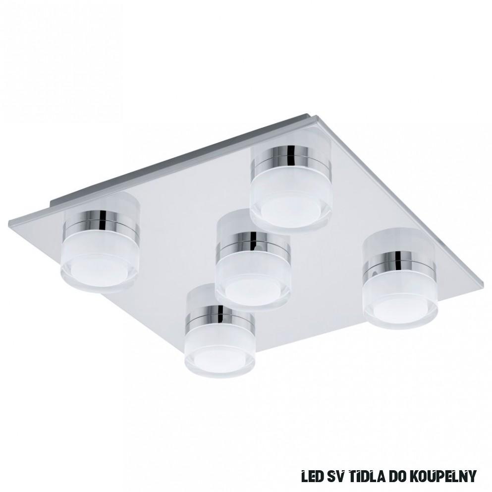 Moderní chromové LED stropní světlo do koupelny Romendo