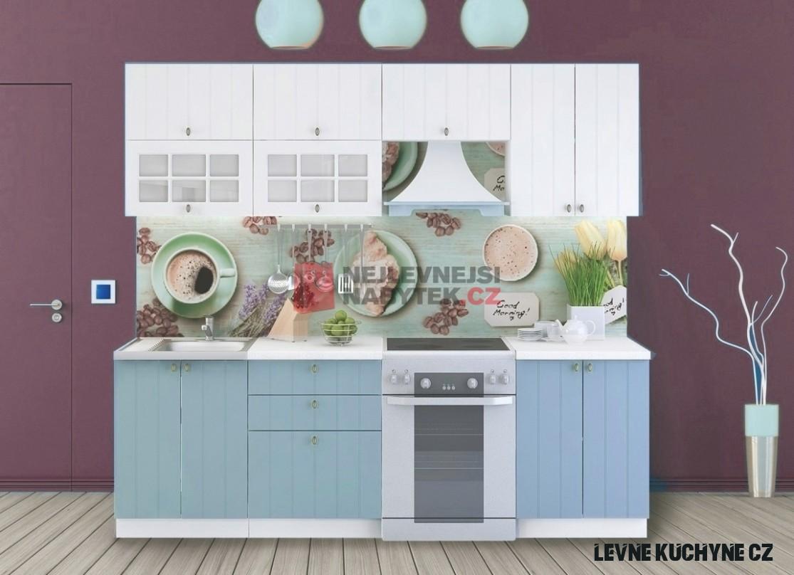 Kuchyně ETKAL 19/19 cm, bílá/světle modrá