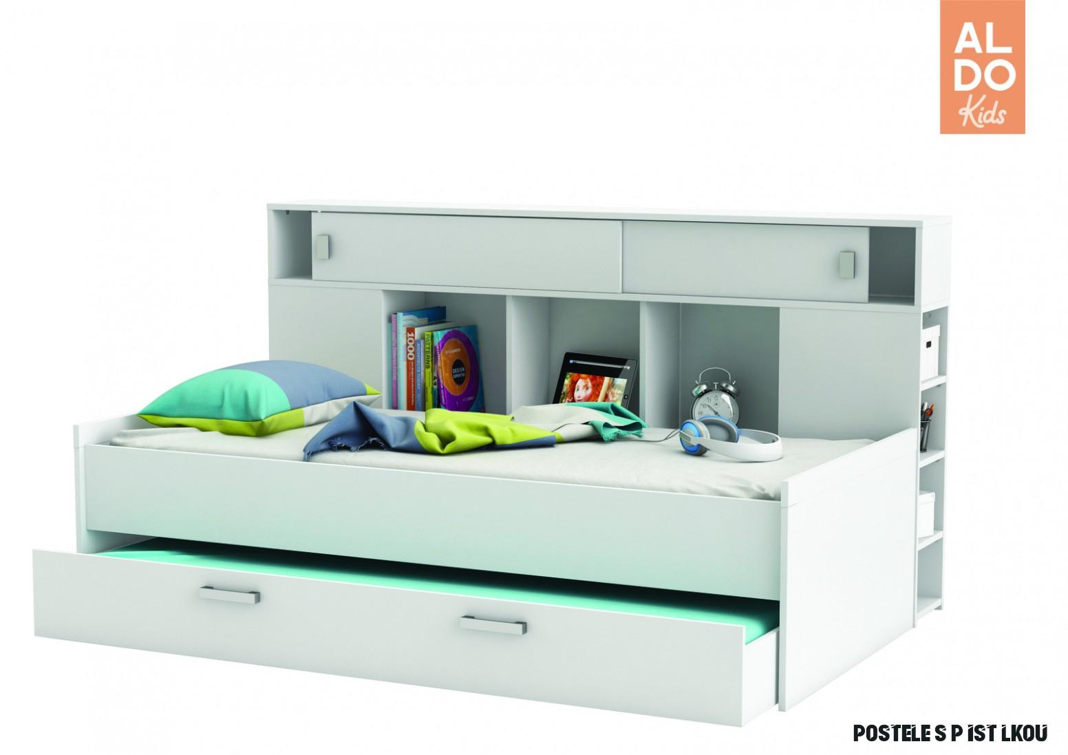 Dětská postel s přistýlkou a nadstavcem Sherwood