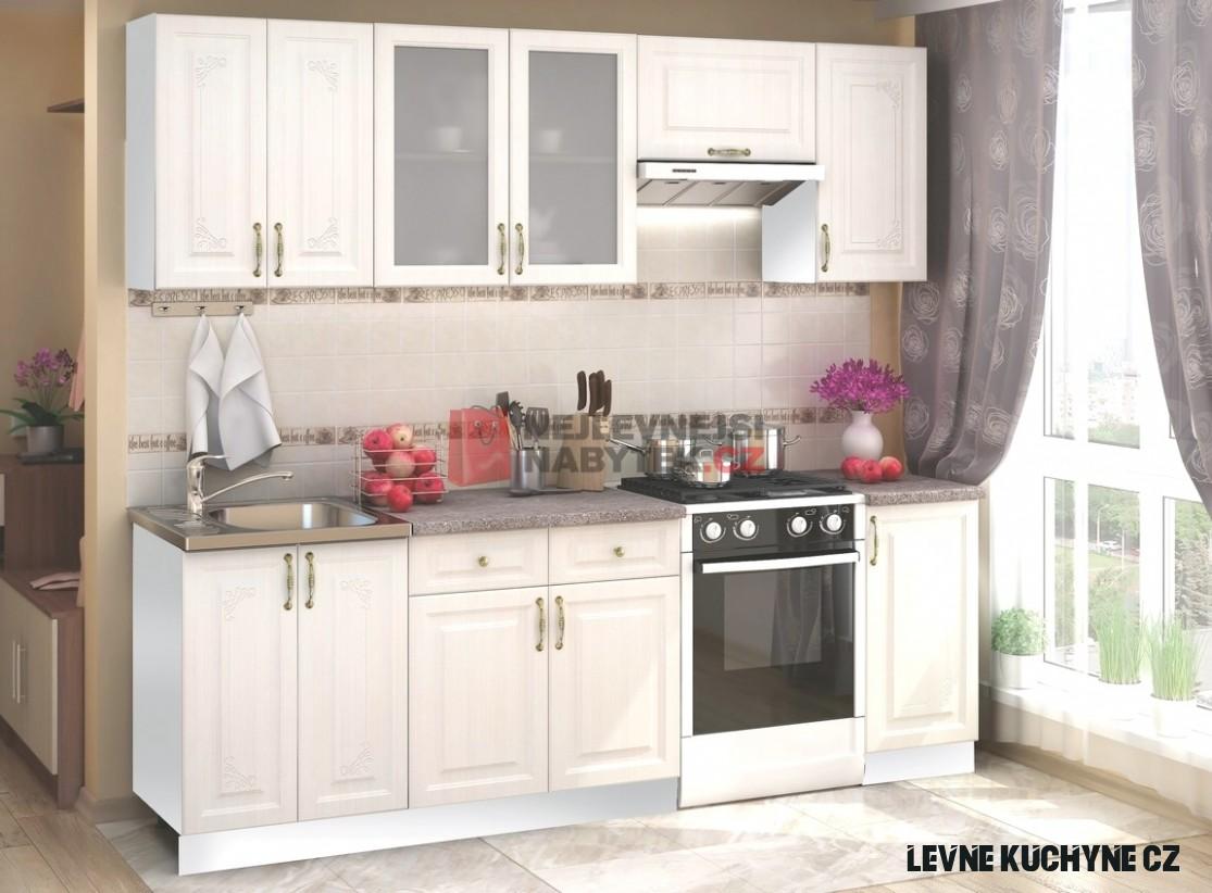 Kuchyně LAGOS 19/19 cm, bílý santál