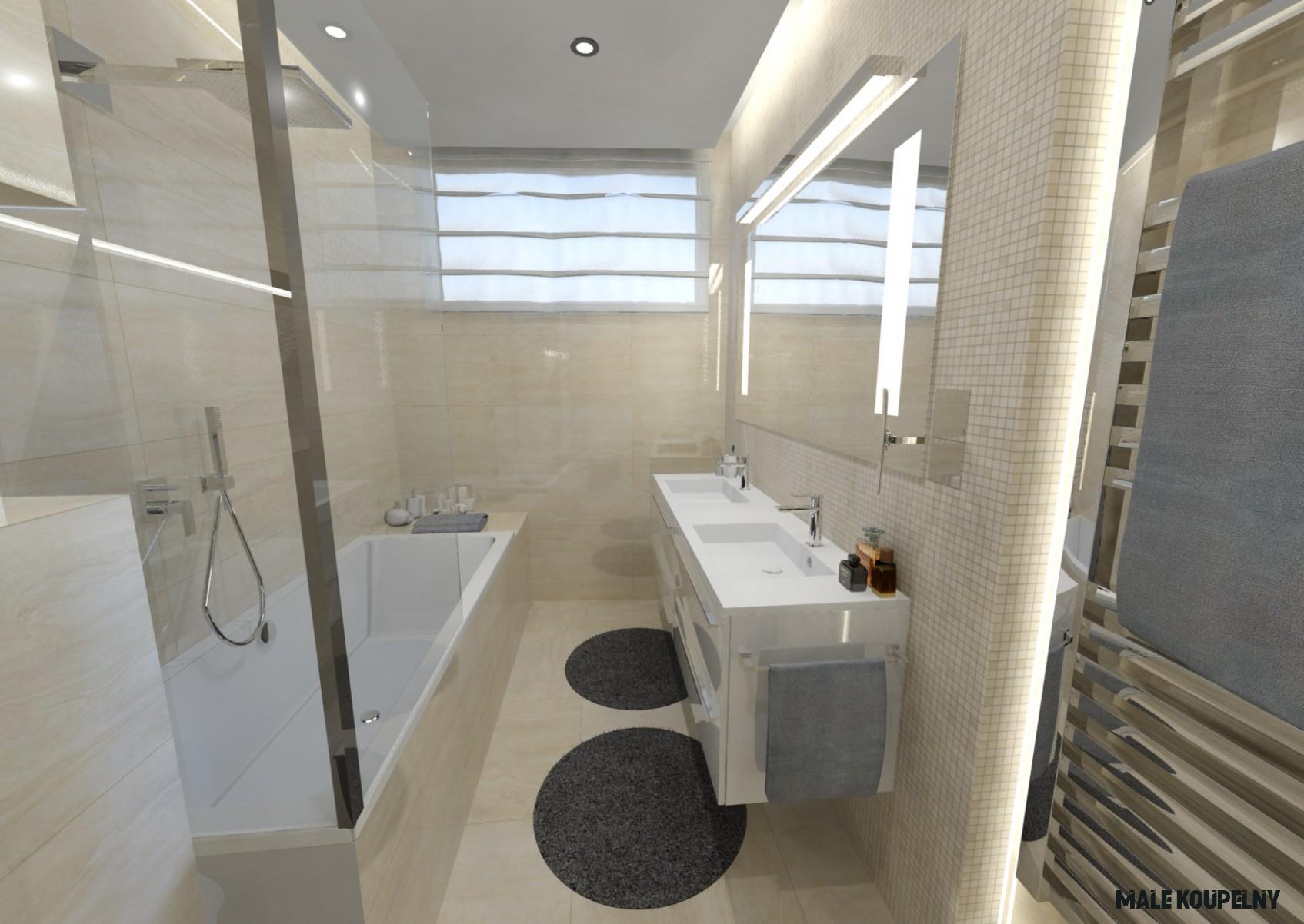 Návrh malé koupelny - inspirace i řešení  Keraservis