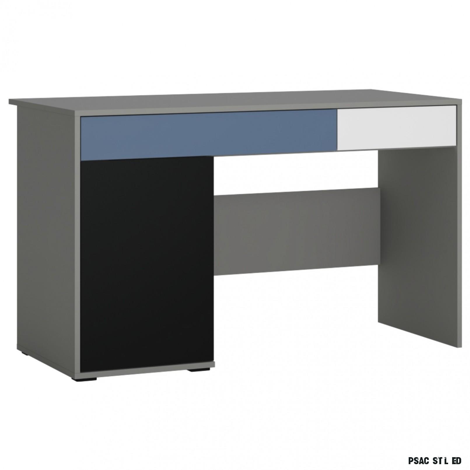 Psací stůl LASER modrá/šedá  Sconto