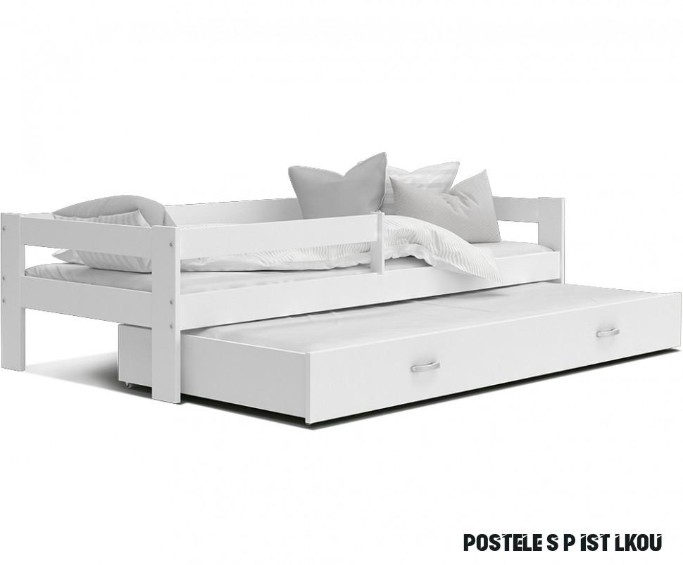 Dětská postel HUGO P6 6x6 s přistýlkou BÍLÁ-BÍLÁ