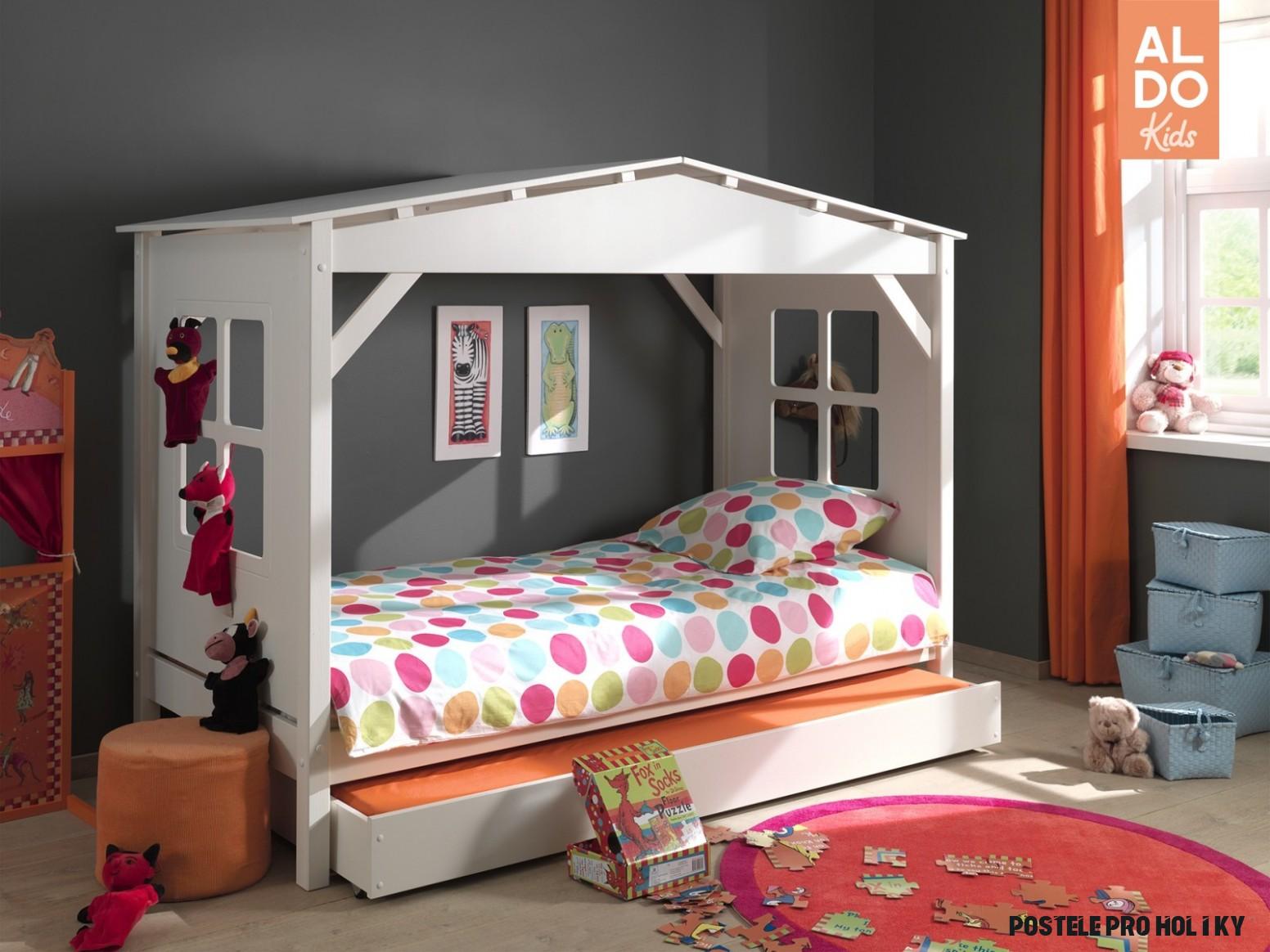 Dětská postel z masivu pro holky Pino-PICB12