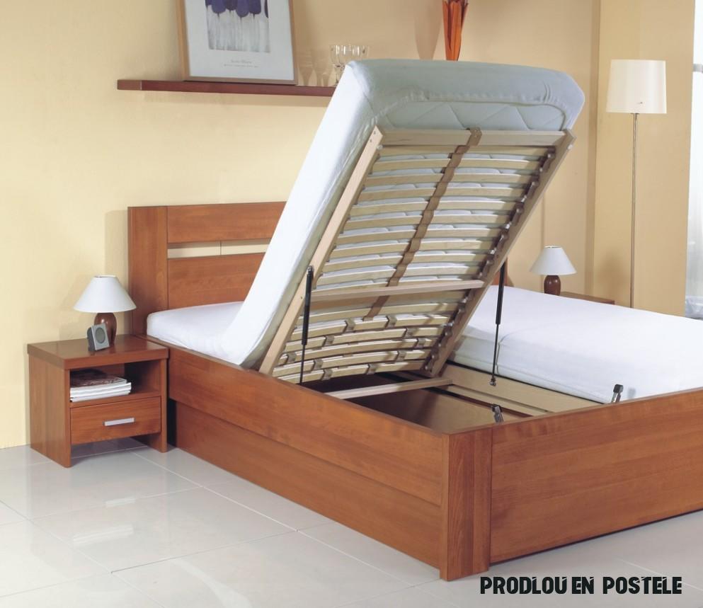 Diana postele ložnice z masivu - JMP Studio zdravého spaní