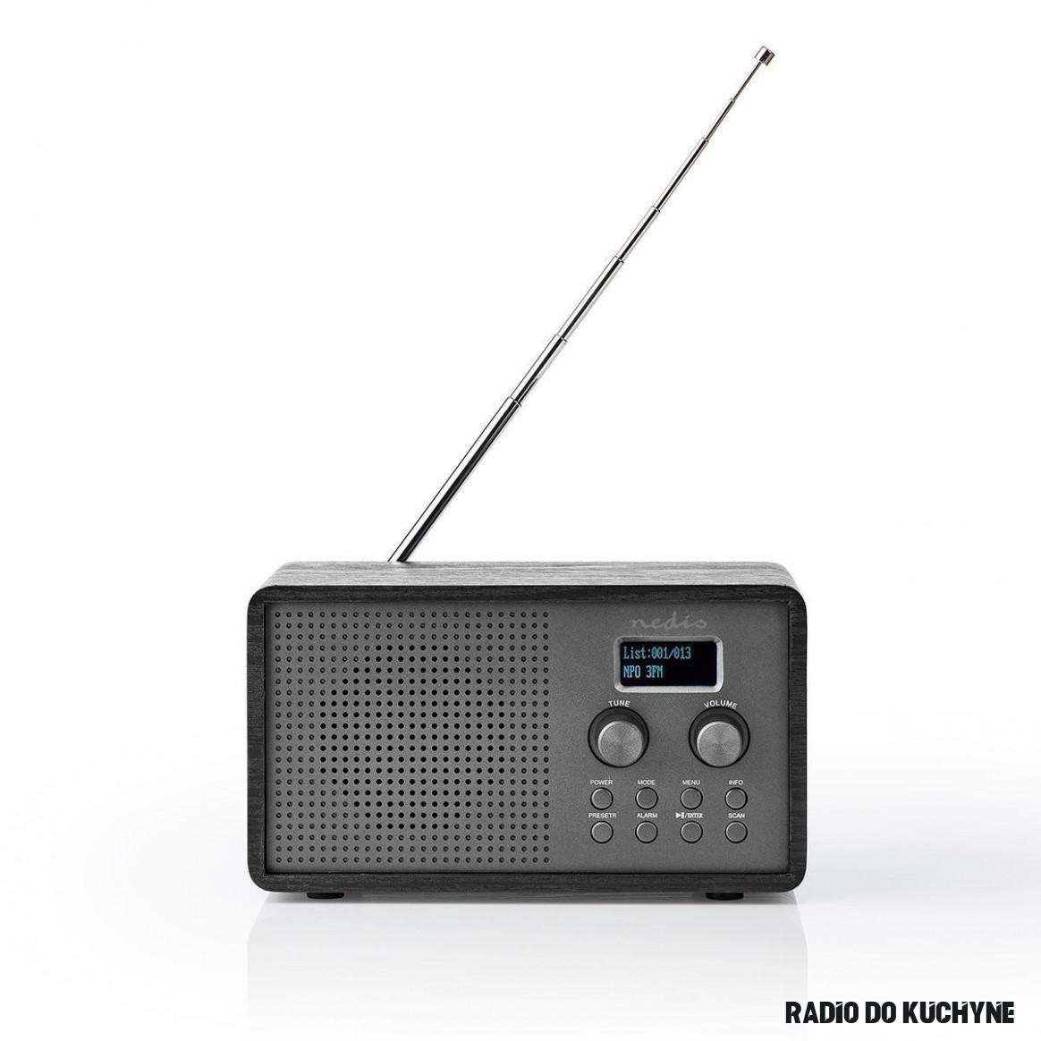 Digitální DAB+ rádio Nedis RDDB19BK