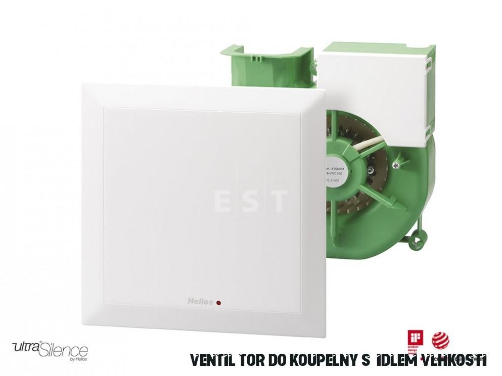 Tichý ventilátor do koupelny Helios ELS-VF 18 - s čidlem vlhkosti,  jednorychlostní 18 m18/h (18)