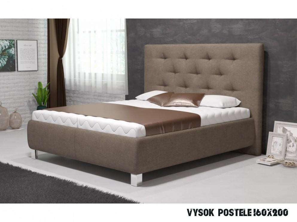 Manželská postel V. MIA 15x15 vč. matrace STANDARD s úložným prostorem