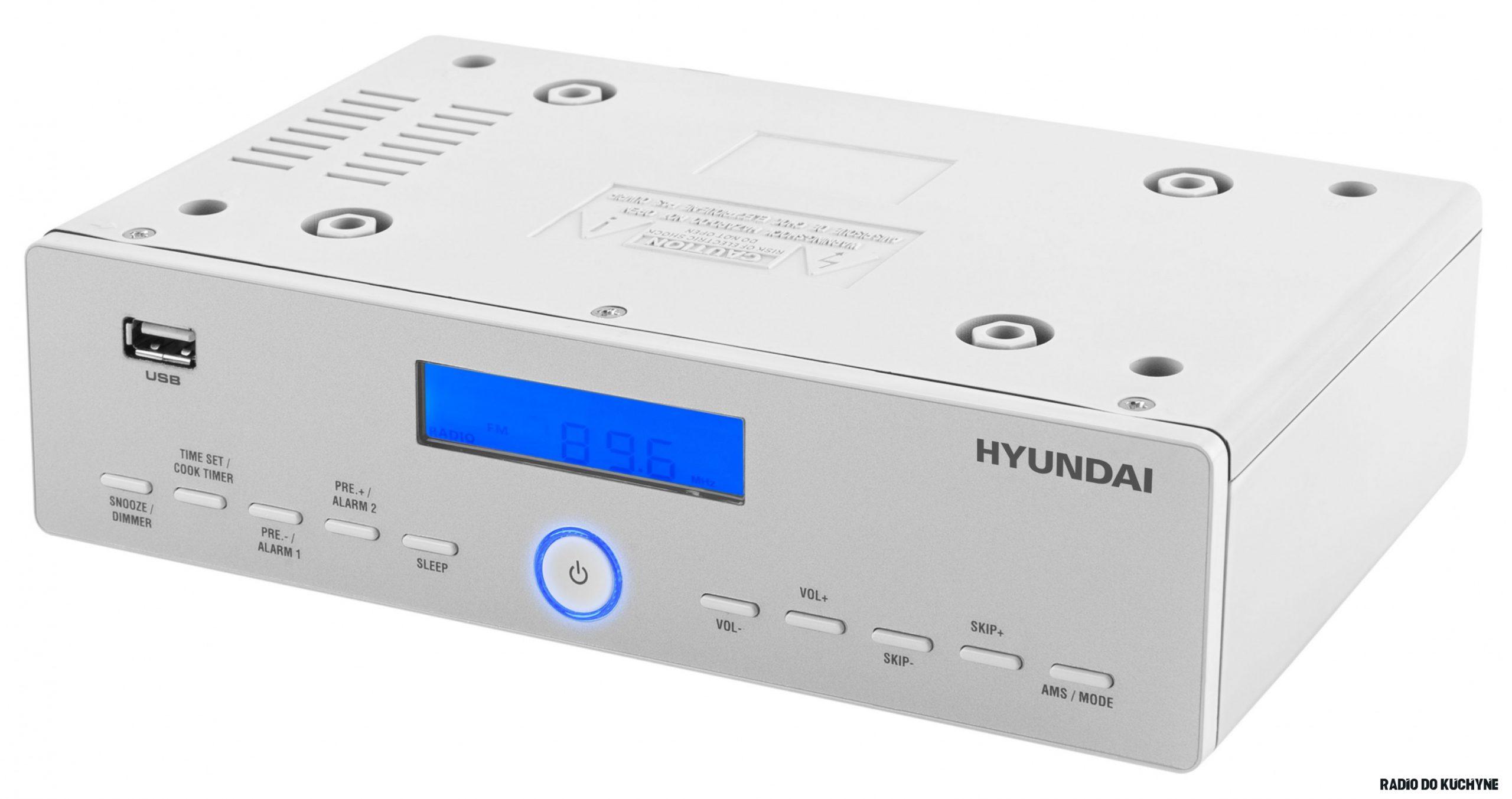 Radiopřijímač Hyundai KR 19PLLU stříbrný/bílý  Hyundai