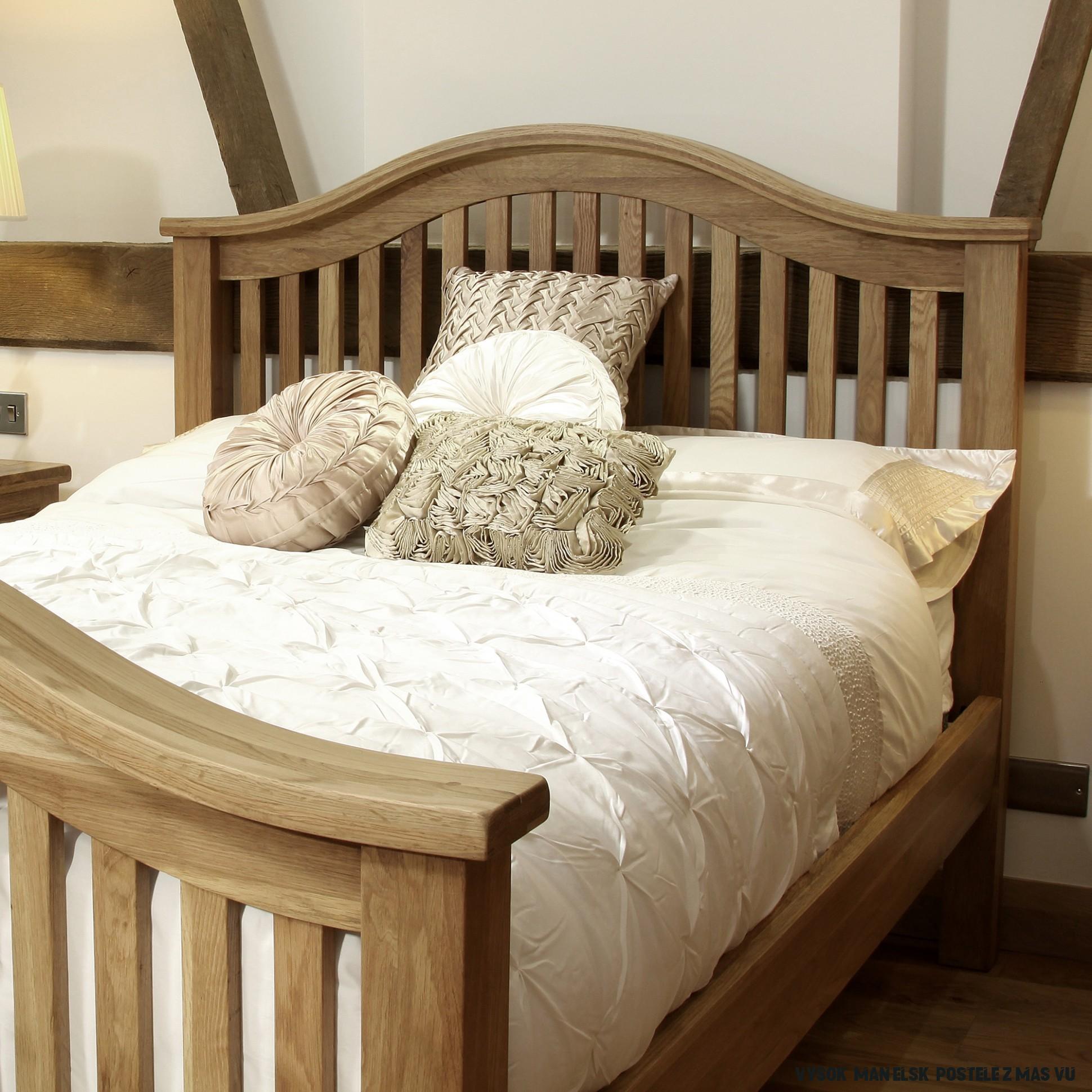 Rustikálna manželská posteľ 17x17x17  DUBU.sk