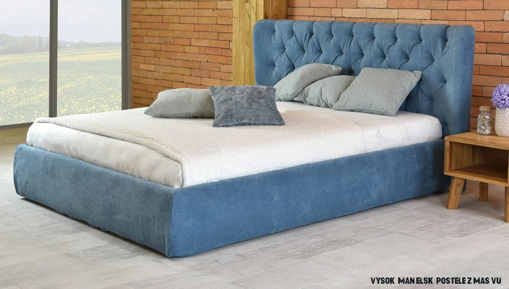 Manželské čalúnené postele