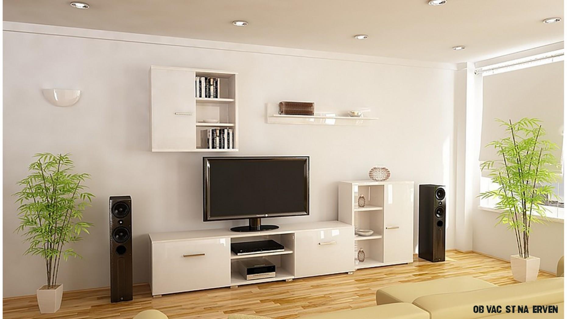 Obývací stěna DEE bílá