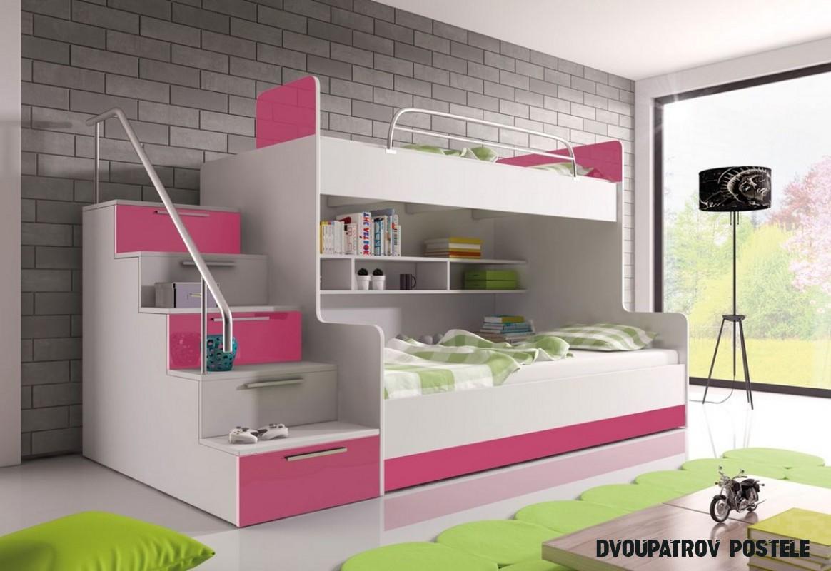 Dětská patrová postel DARCY II COLOR