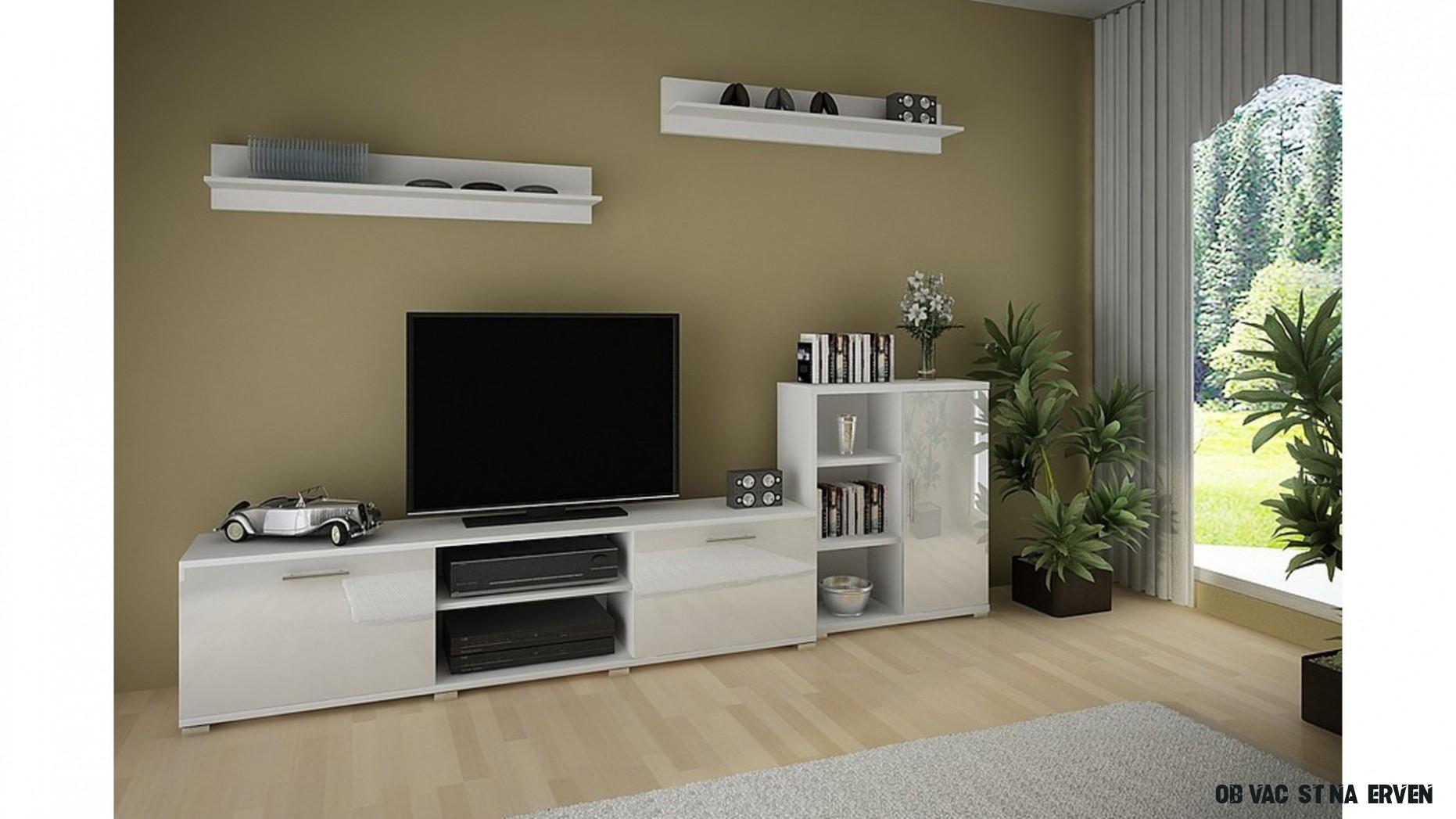 Obývací stěna filip c bílá lesk