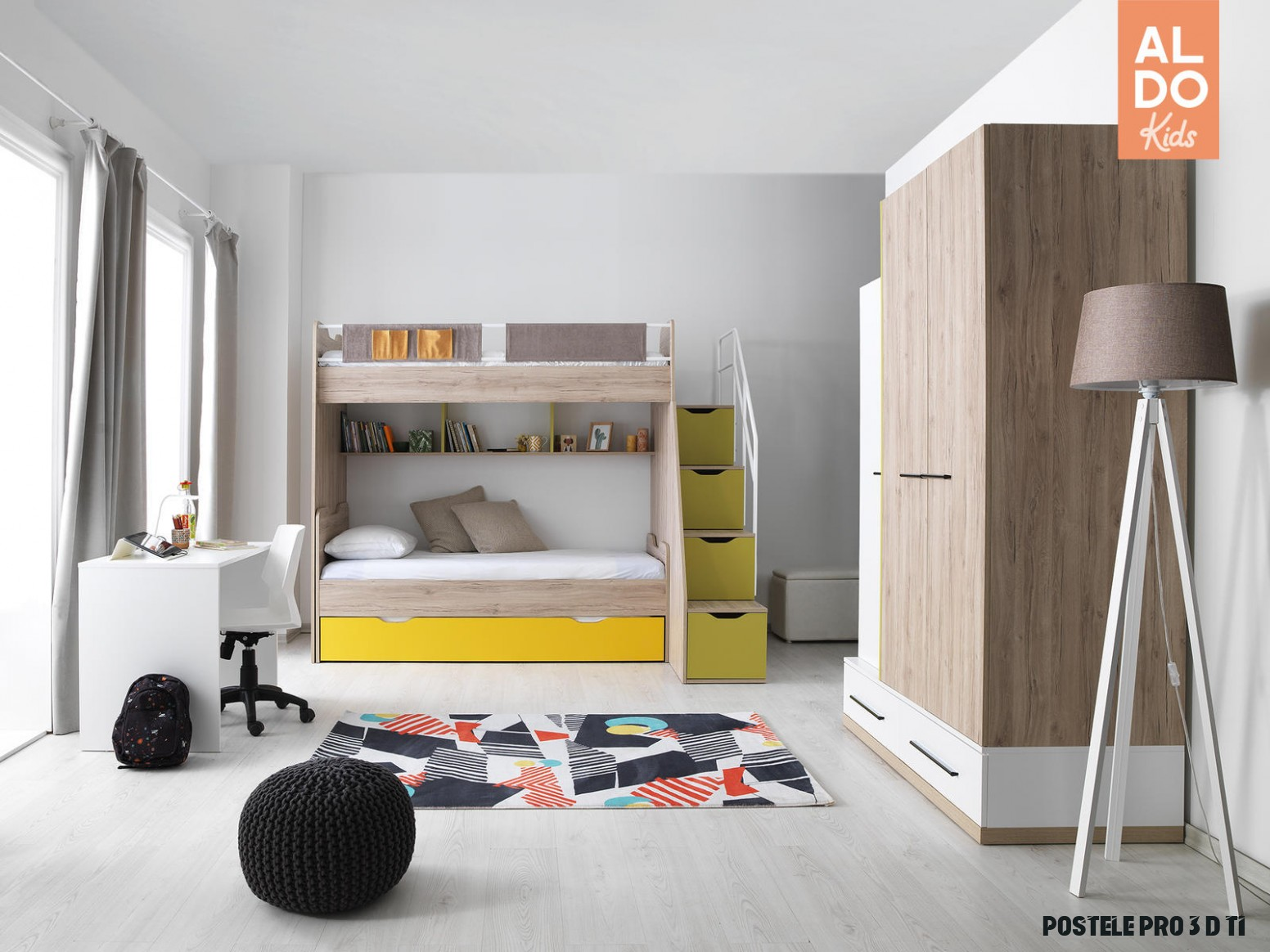 Dětská patrová postel pro 11 děti Born Spring