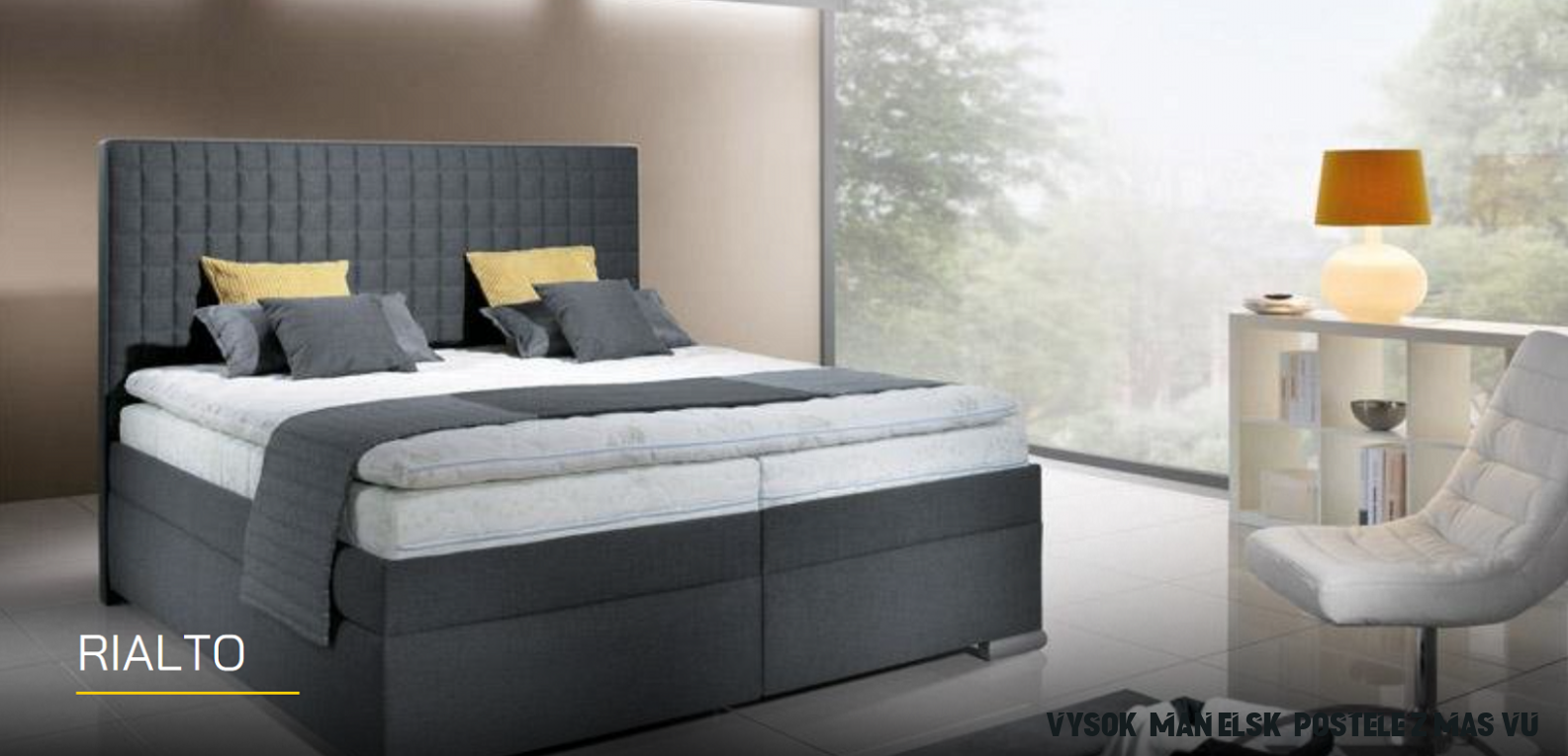 Luxusná manželská posteľ RIALTO  aa-nabytok.sk