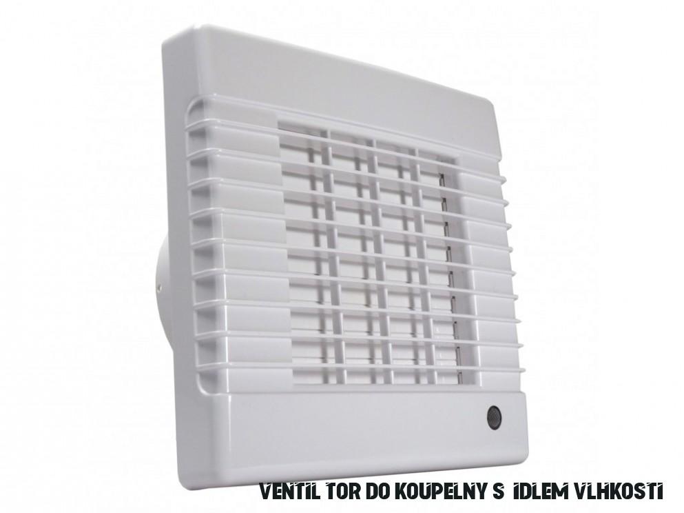 Ventilátor do koupelny s automatickou žaluzií, časovým doběhem a čidlem  vlhkosti Dalap 18 LVZW - Palmat.cz