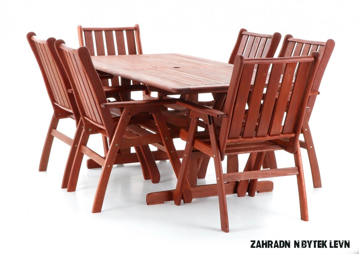 Dřevěný zahradní nábytek VICTORIA SET 8  Levné Sekačky