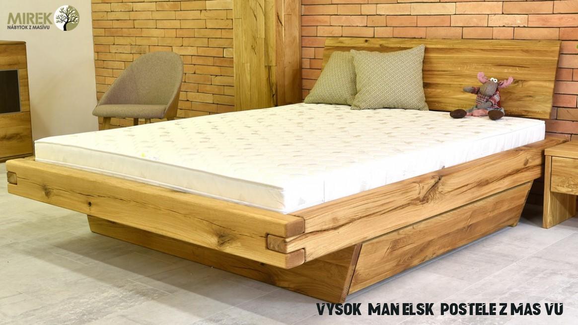 Postele z masívu: najžiadanejšie drevené postele 17
