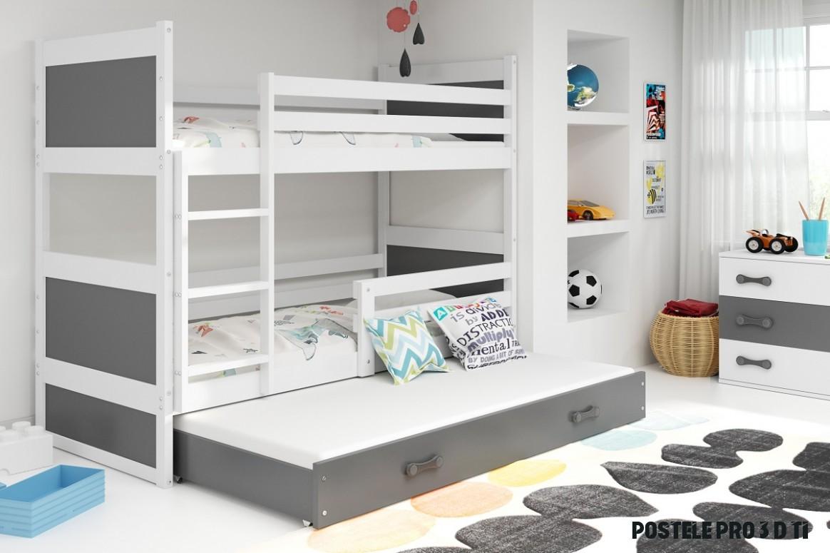 Dětská patrová postel Rico 11 - Bílá