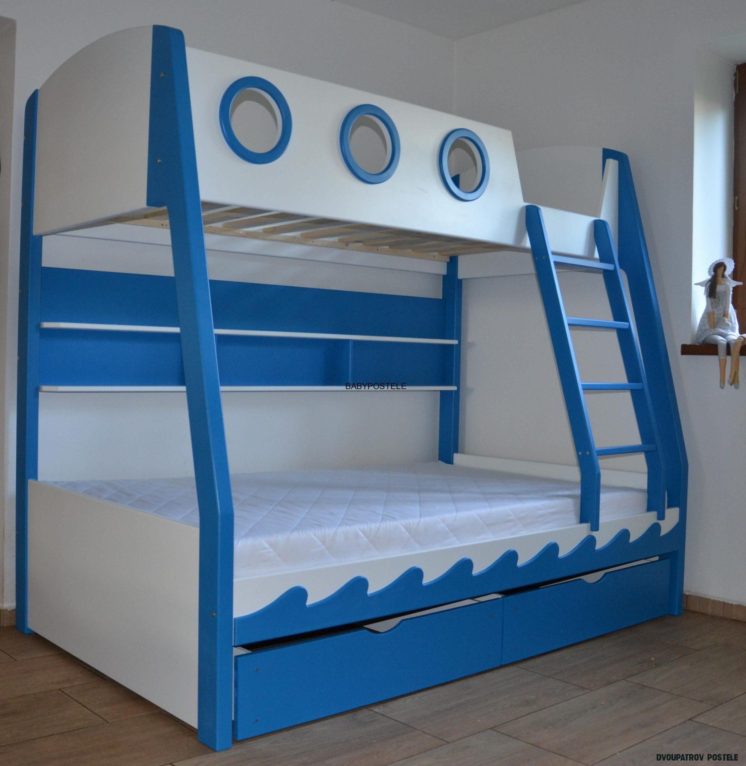 Patrová postel PARNÍK 20x20 cm  BABY POSTELE  Diy toddler bed