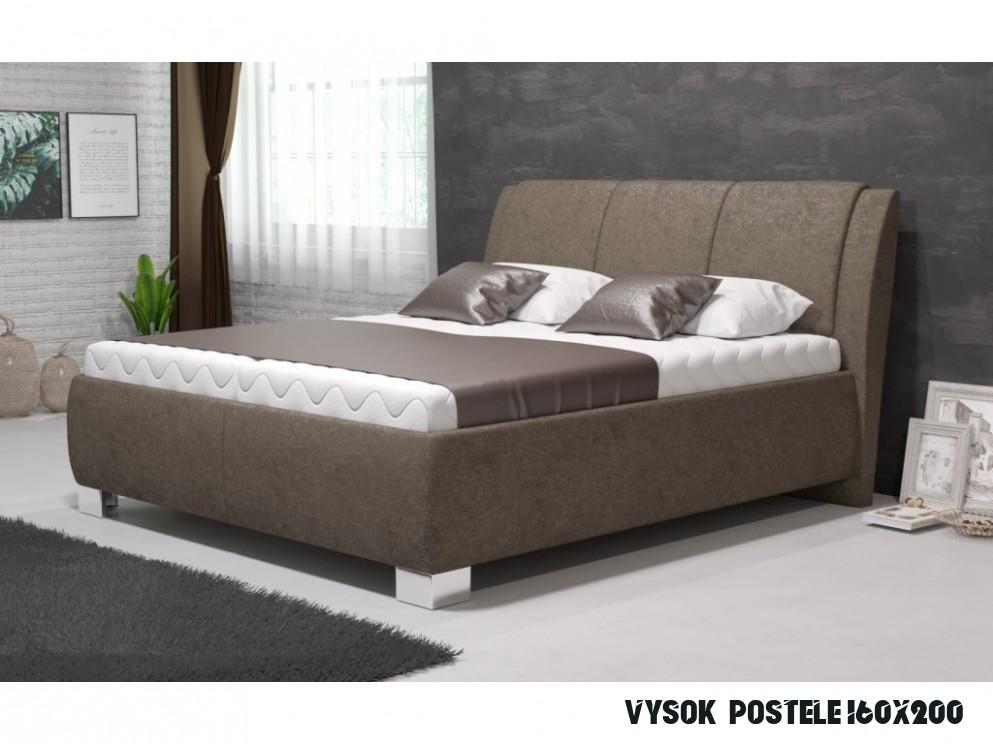 Manželská postel SAMBA 15x15 vč. matrace PREMIUM s úložným prostorem -  Boxspring