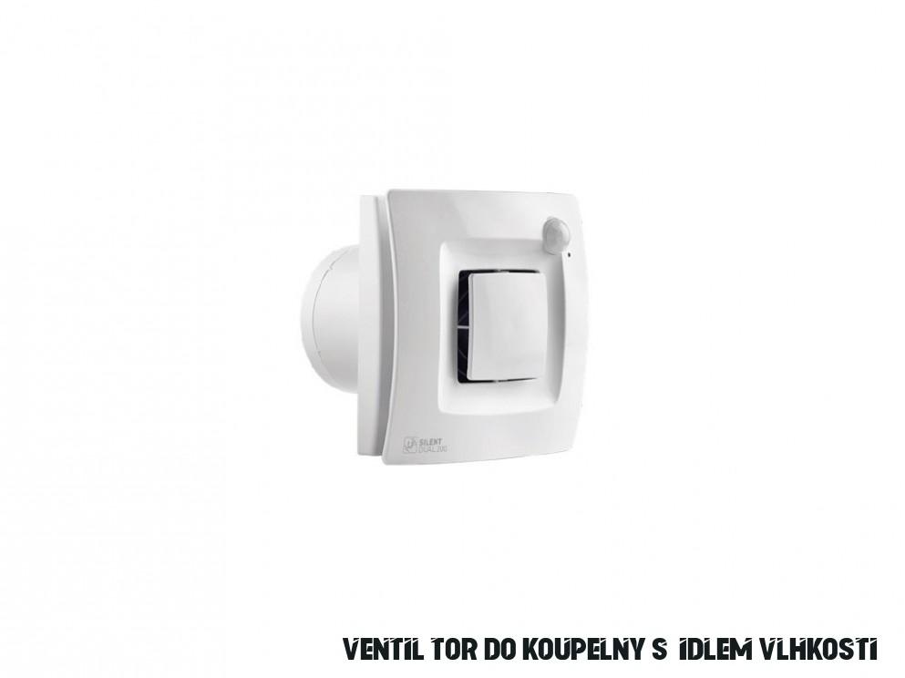 Soler & Palau SILENT DUAL 18 Plně autonomní odtahový ventilátor do  koupelny s čidlem vlhkosti a pohybu