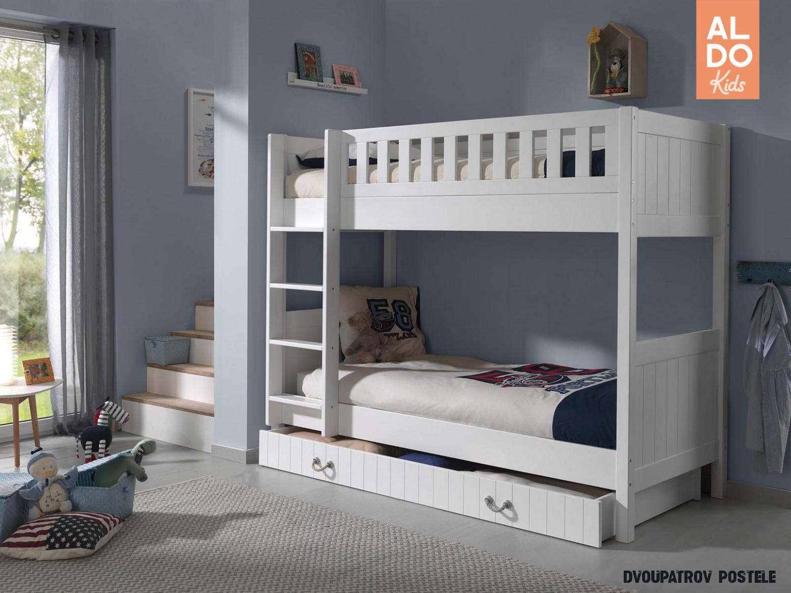 Dětská dvoupatrová postel Lewis