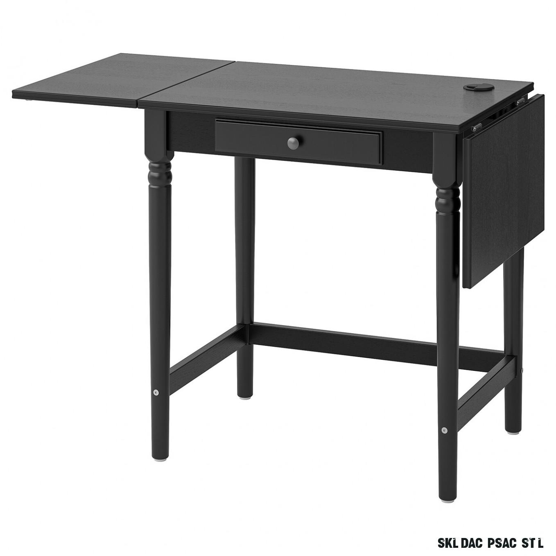 INGATORP Psací stůl - černá 18x18 cm