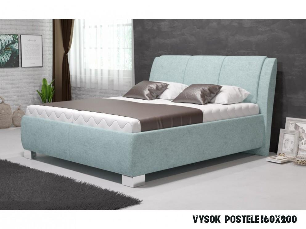 Manželská postel SAMBA 15x15 vč. matrace STANDARD s úložným prostorem -  Boxspring