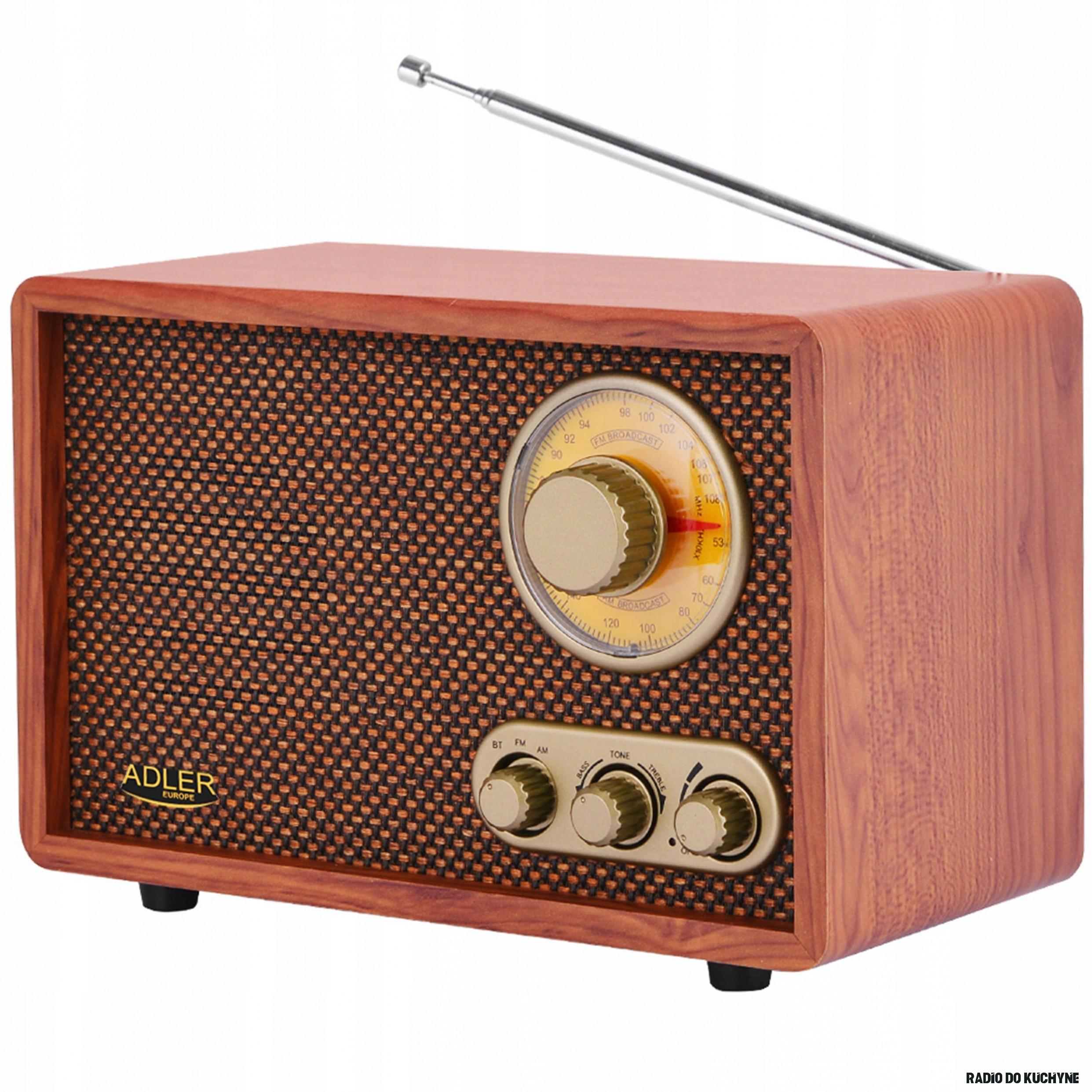 Stylowe RADIO RETRO Drewniane AM FM BLUETOOTH