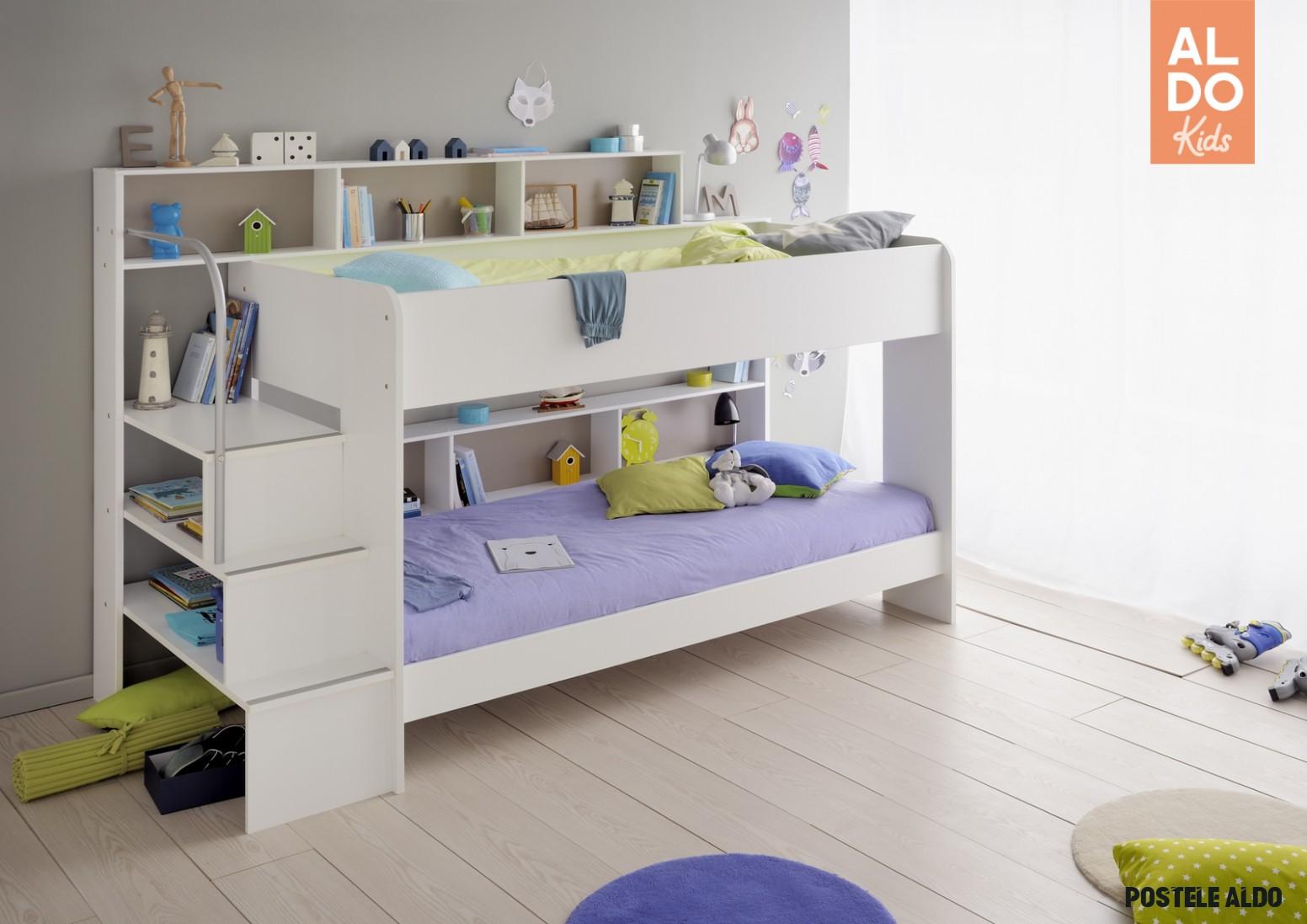 Dětská patrová postel Swan - 18 osoby