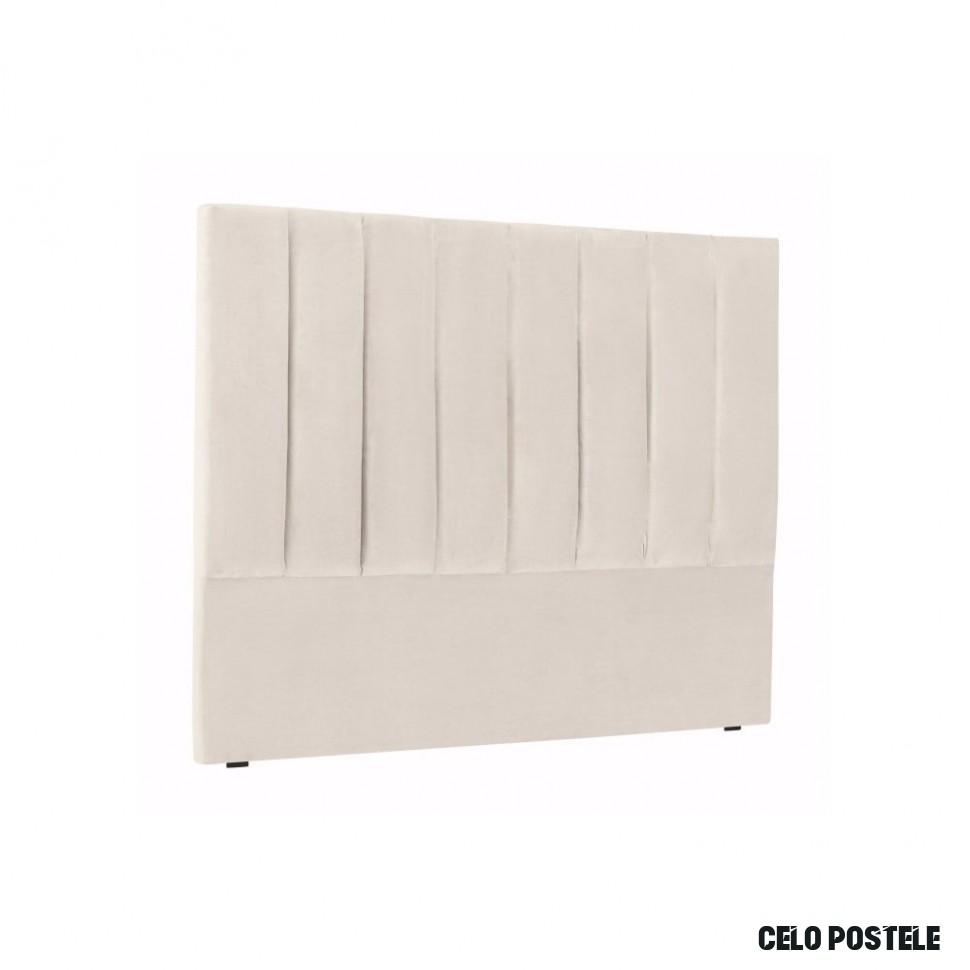 Krémově bílé čelo postele Cosmopolitan Design Los Angeles, šířka 12 cm