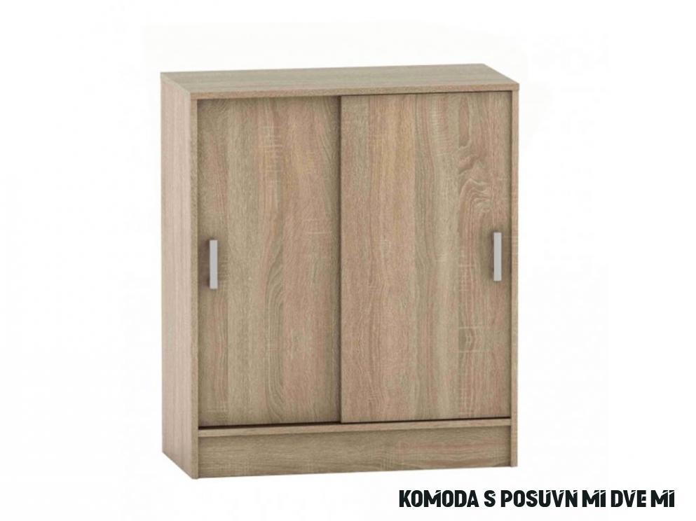 Komoda s posuvnými dveřmi v dekoru dub sonoma TK18 TYP18 - NAKUP