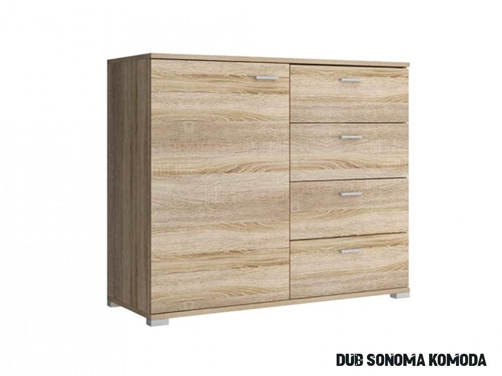 Komoda - PK7, dub sonoma