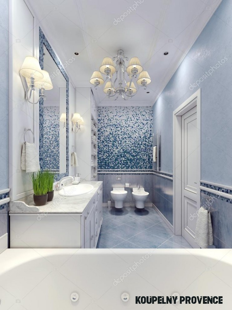 Elegant provence bathroom design 14