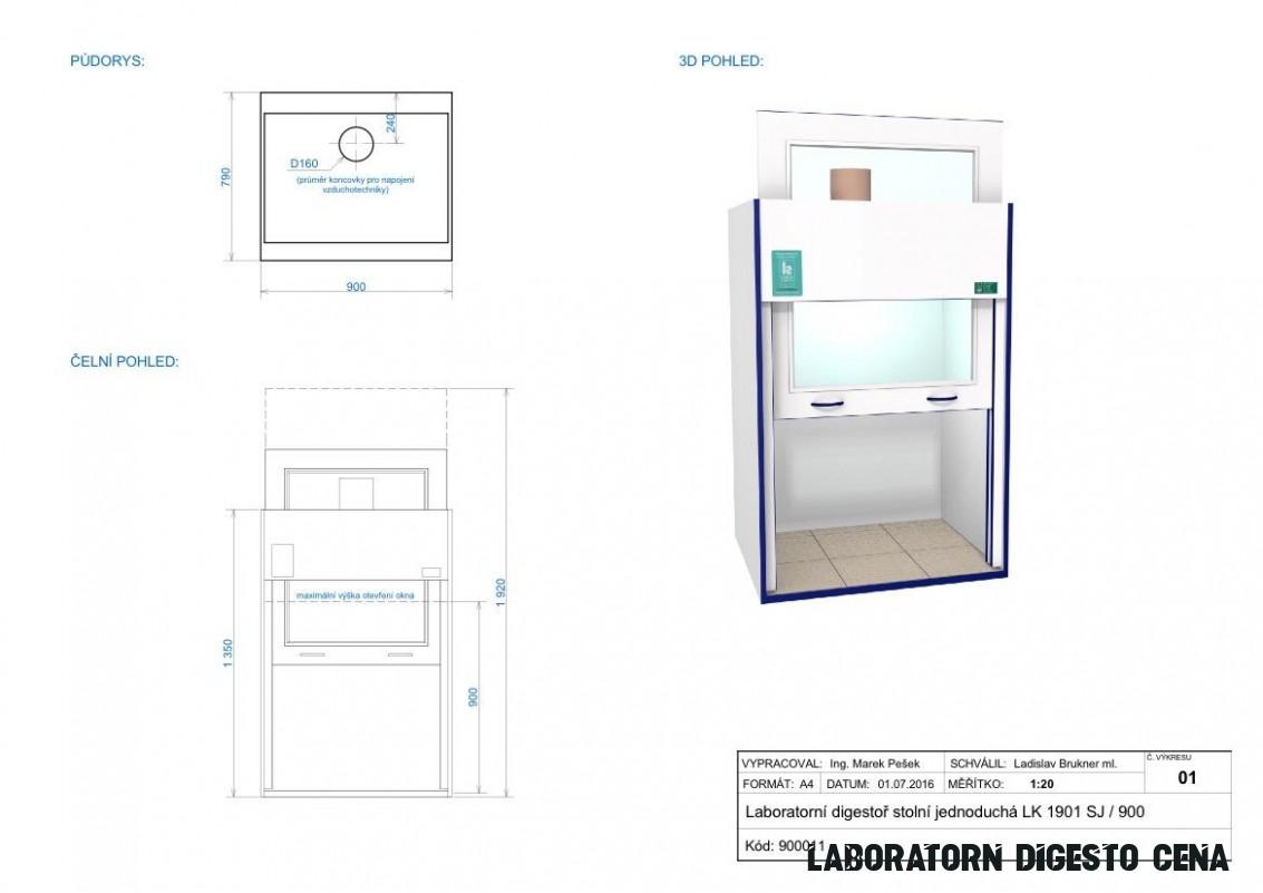 Laboratorní technika a chemické potřeby  Laboratorní digestoř LK