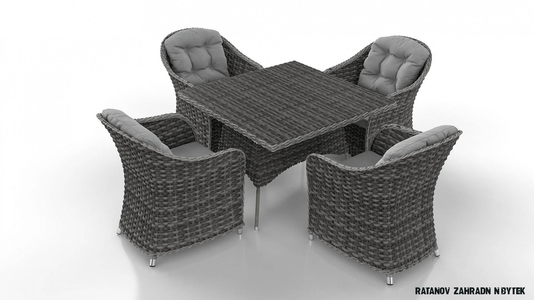 Zahradní nábytek umělý ratan ACRES S - Zahradní nábytek jídelní