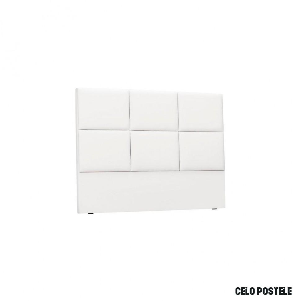 Bílé čalouněné čelo postele THE CLASSIC LIVING Aude, 12 x 12 cm