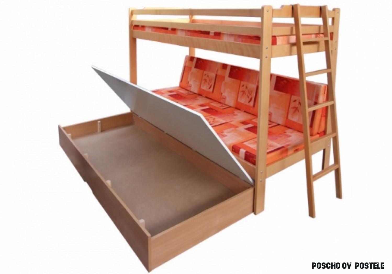 Detské poschodové postele z masívu  aa-nabytok.sk